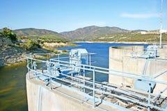 Mountain dam Stock Photo