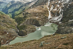 Mountain dam in Austrian Alps Stock Images
