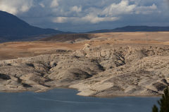 Mountain dam lake in northern Algeria Stock Image