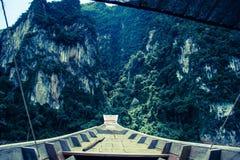 Mountain in Dam Thailand Stock Image