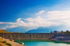Mountain dam Royalty Free Stock Photography