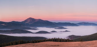 Mountain at dawn Royalty Free Stock Photography