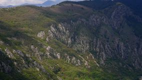 Mountain on day in Montenegro stock video