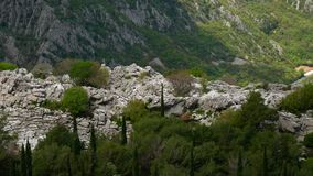 Mountain on day in Montenegro stock footage