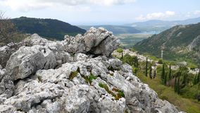 Mountain on day in Montenegro stock video footage
