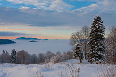 Mountain day winter stock photography