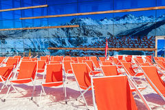 Mountain deckchairs Royalty Free Stock Photos