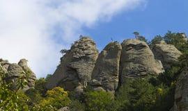 Mountain Demerdzhi.Bottom view.Crimea Stock Image