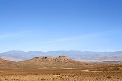 Mountain in the desert Stock Photo