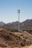 Mountain desert cell phone tower royalty free stock photo