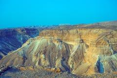 Mountain desert landscape. View from Masada stock photos