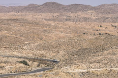 Mountain  on desert Stock Image