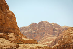 Mountain in the desert Stock Images