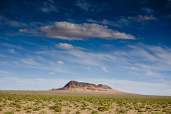 Holly Mountain in the desert under the blue sky Royalty Free Stock Images