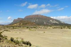 Mountain in desert Stock Images