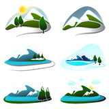 Mountain design elements Royalty Free Stock Image