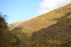 Autumn landscape in the Apennines in Italy Royalty Free Stock Photography