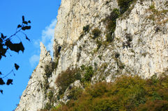 Mountain detail, Lake Lecco in fall, Italy Royalty Free Stock Images