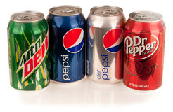 Mountain Dew, Diet and Regular Pepsi, Dr. Pepper Stock Photo