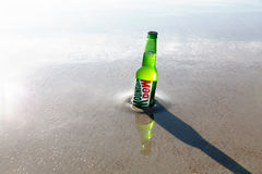 Mountain Dew drink in the sea Royalty Free Stock Images