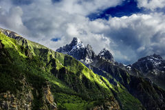 Mountain. They mountain with different seasons in Tibet stock photography