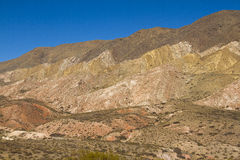 Mountain with different shades of brown and ocher. Stock Photos