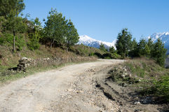 Mountain Dirt Road Stock Photo