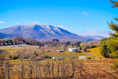 Mountain in the distance. Blue ridge mountains in the distance Royalty Free Stock Image