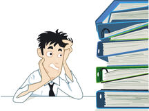 Mountain of documents Stock Images