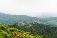 Mountain Doi Mae Daet Royalty Free Stock Photography