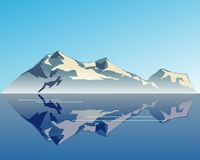 Mountain Dream. Viewed from across a body of water a mountain with it's reflection Stock Images