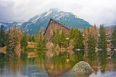 Mountain Dream Lake Hotel Stock Photo