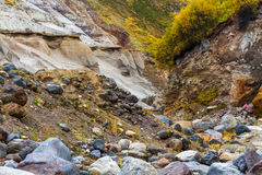 Mountain dry stream riverbed Stock Image