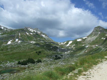 Mountain Durmitor. In Montenegro royalty free stock photo