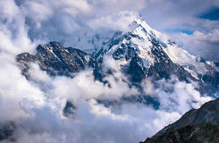 Dykh-Tau, 5,204 m - the second highest mountain in Russia Stock Photos