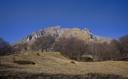 Mountain in early spring. Grignetta mountain Alps in Lombardy, Italy Stock Photography