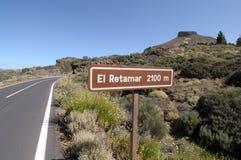 Mountain El Retamar, Tenerife Royalty Free Stock Image