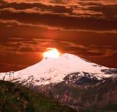 Mountain Elbrus. Mountain Elbrus in Central Caucasus,Russia royalty free stock photos