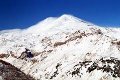 Mountain Elbrus. Elbrus in winter day.Balkaria,Caucasus,Russia Royalty Free Stock Image