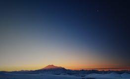 Mountain Elbrus at dawn Stock Photography