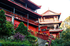 Mountain Emei - Qingyin Ge Royalty Free Stock Photography