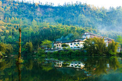 Mountain Emei - Wangyue Lake Stock Image