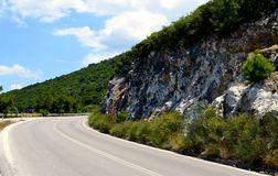Mountain empty road curve Stock Images