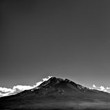 Mountain with Empty Sky Copyspace. Mount Shasta with blank empty copyspace above Stock Photo