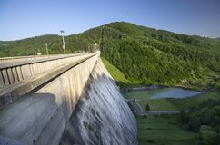 Mountain energy dam Stock Photos