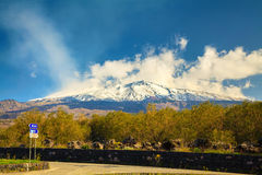 Mountain Etna in spring Royalty Free Stock Image