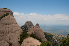 Mountain. Europe, Spain, Catalonia, beautiful park Montserrat Stock Images