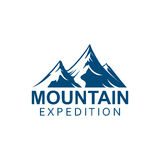 Mountain expedition alpine sport vector icon Royalty Free Stock Photography