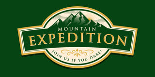 Mountain Expedition Badge. EPS 10 file and large jpg included Stock Photos