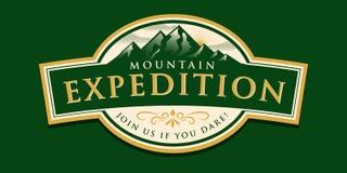 Mountain Expedition Badge Stock Photos
